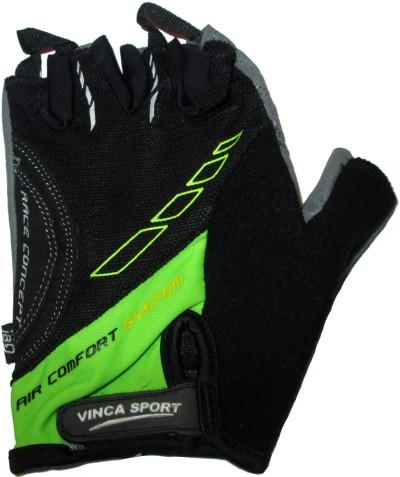 Велоперчатки VINCA SPORT VG 925 (black/green)