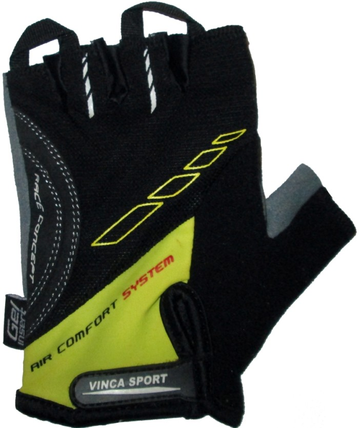 Велоперчатки VINCA SPORT VG 925 (black/yellow)