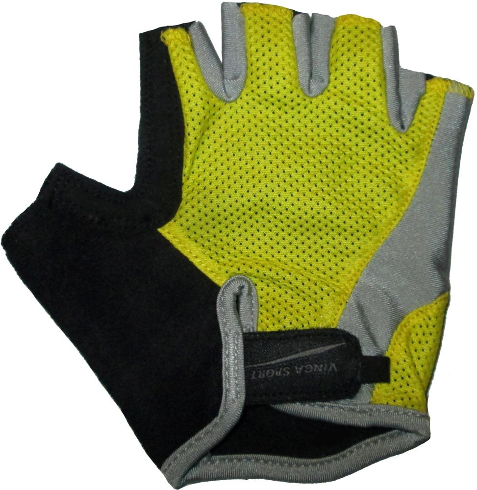 Велоперчатки VINCA SPORT VS 936 (yellow)