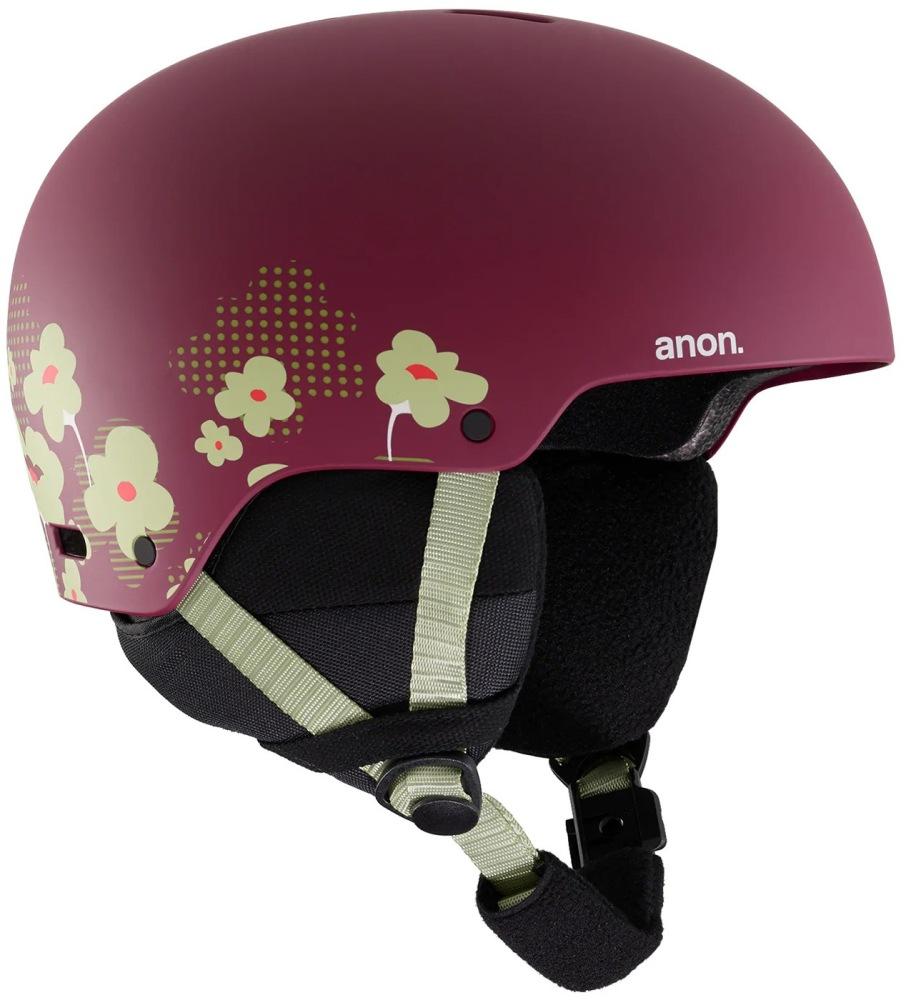 Шлем ANON Rime 3 (flower maroon)